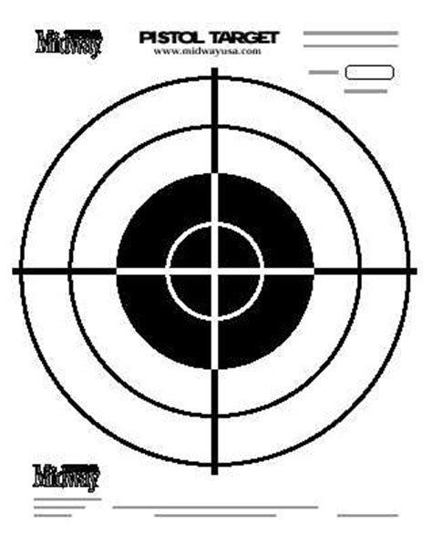 printable paper handgun targets target practice pictures cliparts co