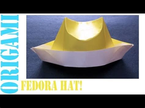 How To Make A Fedora Out Of Paper - fedora hat daily origami 469 tcgames hd