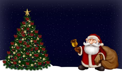 photo of santa claus and christmas tree 40 free wallpapers hd quality 2012 collection