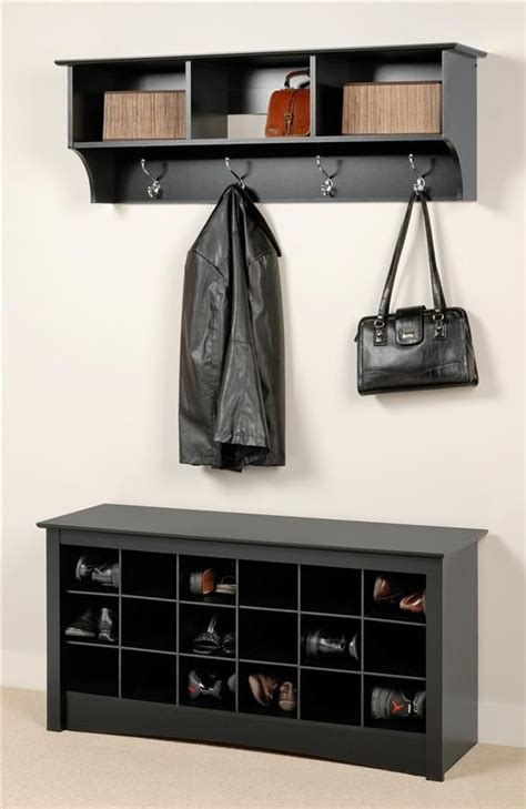 entry way shoe rack entryway wall mount coat rack w shoe storage bench in