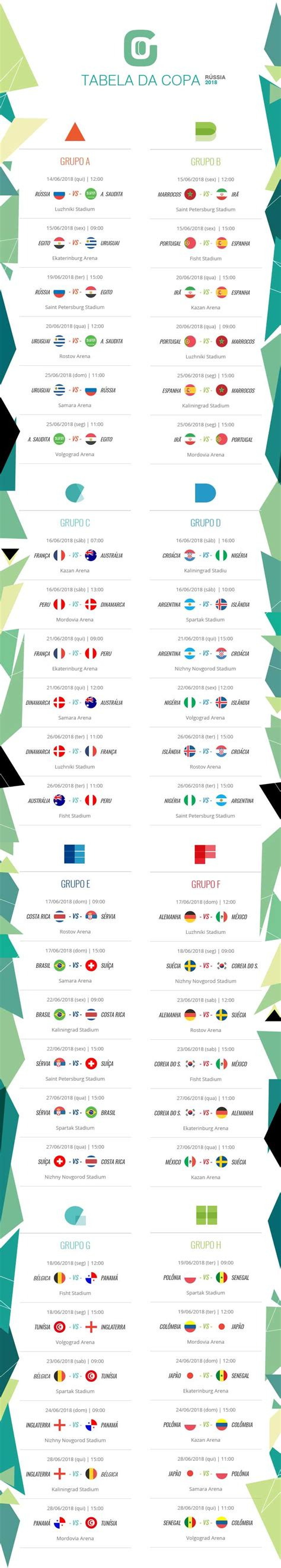 copa mundial 2018 horarios confira datas e hor 225 rios dos jogos da fase de grupos da
