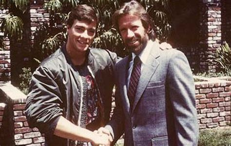 rare footage shows chuck norris and jean claude van damme