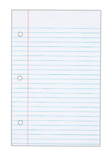 tops notebook filler paper college ruled