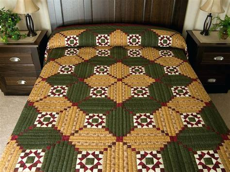 Amish Handmade Quilts For Sale - dutchmans puzzle quilt gorgeous smartly made amish quilts