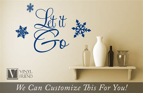 movie quotes vinyl decal let it go quote from the movie frozen a home wall decor