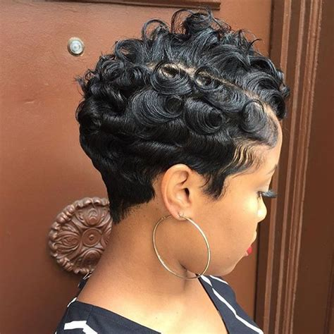 pin curls on pixie cut love the texture on this pixie waves and curls