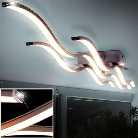 led deckenle lang design 40 watt led decken le g 228 stezimmer wellen leuchte