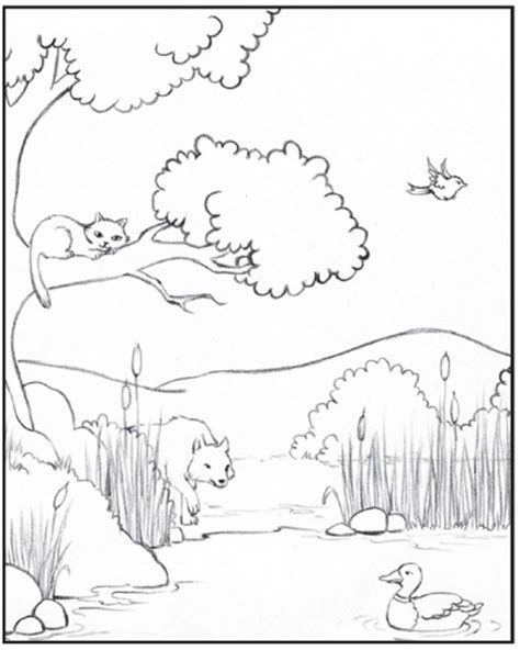 peter and the wolf pages coloring pages