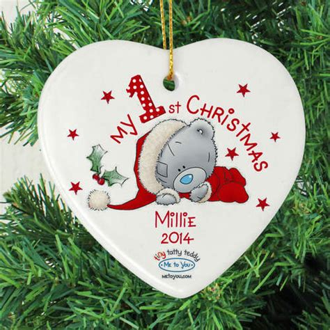 personalised me to you heart decoration my 1st christmas