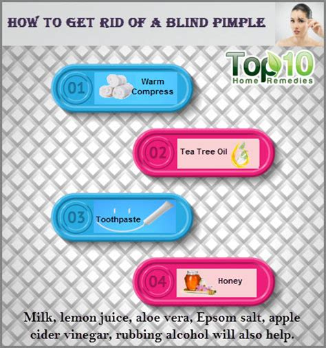 How Do You Get Rid Of A Blind Pimple how to get rid of a blind pimple top 10 home remedies