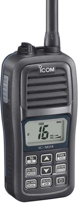 Ht Icom Ic M24 Vhf Marine boat waterproof products boatus magazine