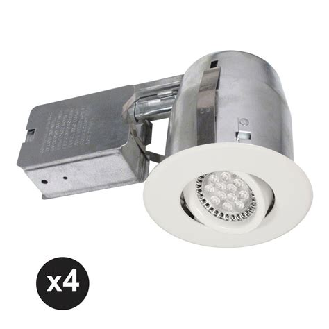 bazz led under lighting bazz 300 series 4 in white recessed led gu10 light