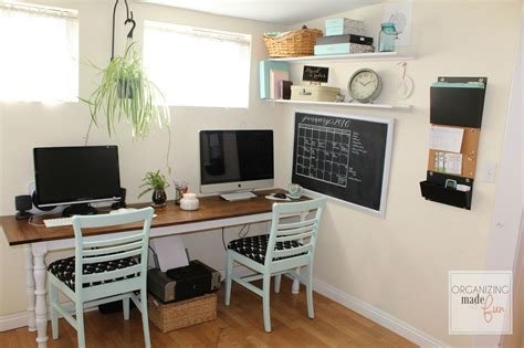 adorable organized home office in a small rental home