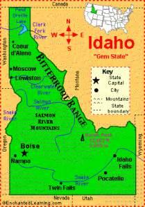 idaho facts map and state symbols enchantedlearning