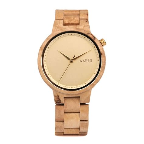 aarni wooden watches xo curly birch