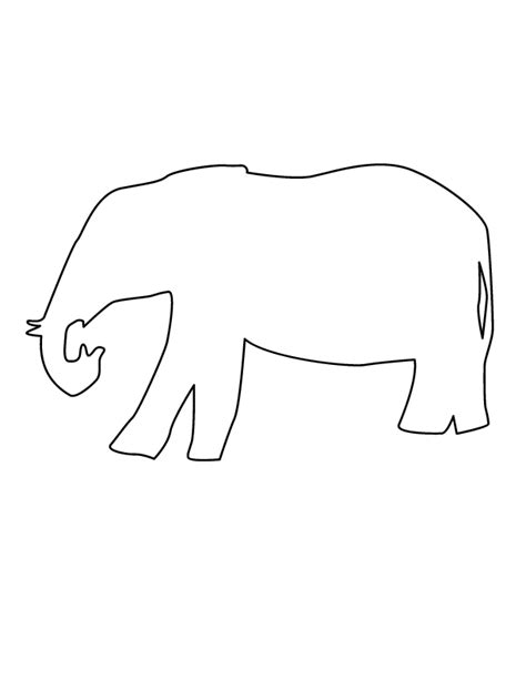 Elephant Outline Coloring Pages | simple elephant outline cliparts co