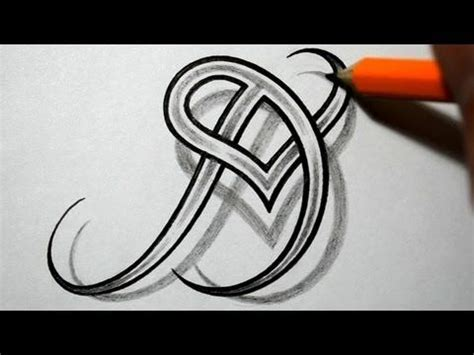 letter h tattoo designs initial d and combined together celtic weave style