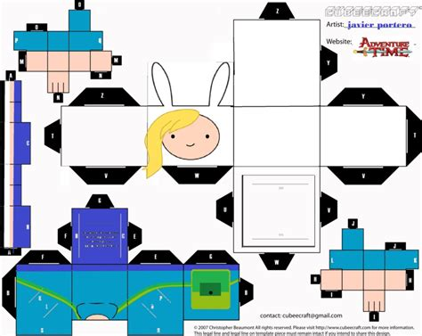 Adventure Time Paper Craft - adventure time fionna by javierpl on deviantart