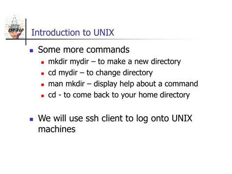 unix tutorial powerpoint ppt introduction to unix aix powerpoint presentation