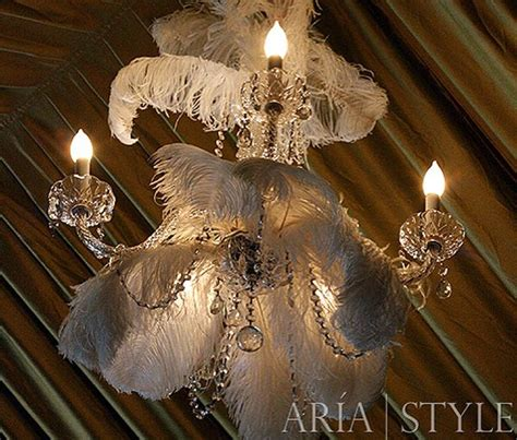ostrich feather chandelier wow a feather chandelier feathers not just for the birds pinterest dress up the