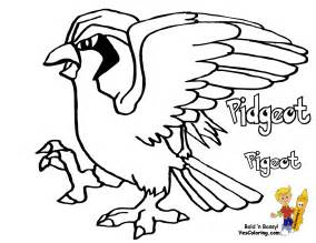 Pokemon Pidgeotto Coloring Pages Sketch Page sketch template