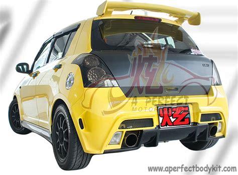 Bodykit Suzuki All New Sporty suzuki tm style rear bumper rear diffuser suzuki