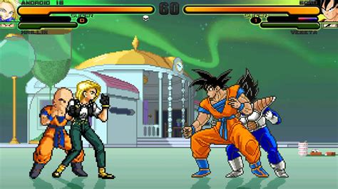krillin and android 18 hd mugen battles episode 24 android 18 krillin vs goku vegeta