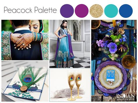 color theme ideas peacock theme wedding color palette ideas