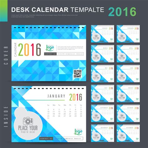 2016 calendar design vector free download 2016 new year desk calendar vector material 98 vector