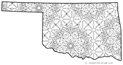 oklahoma map outline printable state shape stencil