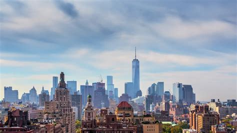 imagenes 4k new york beautiful clouds rolling over new york city manhattan