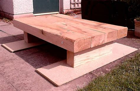 Sleepers Cut To Size by Constructing A Coffee Table From New Oak Railway Sleepers