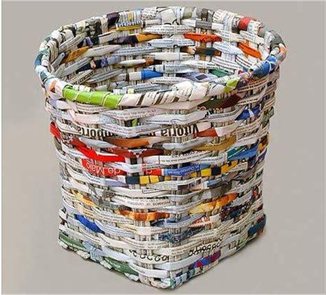 Keranjang Dari Koran cara membuat keranjang dari kertas koran bekas berbagi tutorial