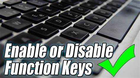 how to enable disable fn key on laptop enable or disable function