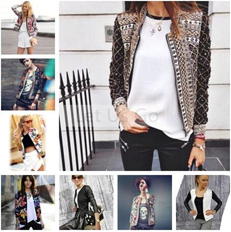 aliexpress refund policy 2015 spring autumn women jacket floral printed embroidery