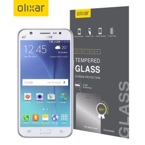 Tempered Glass Samsung Galaxy J5 2015 olixar samsung galaxy j5 2015 tempered glass screen protector