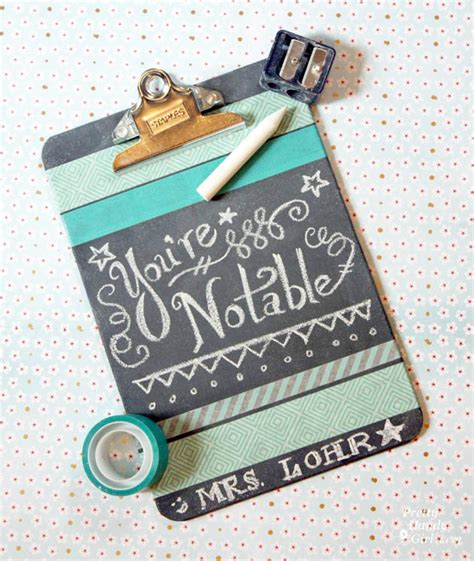 How To Decorate Clipboard by Decorated Chalkboard Clipboards Pretty Handy