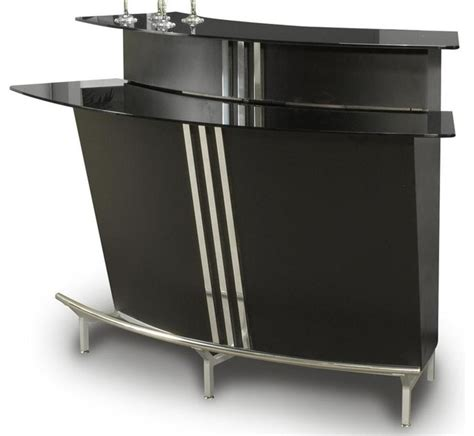 Indoor Bar Cabinet Contemporary Curved Bar With Glass Top Contemporary Wine And Bar Cabinets By Shopladder