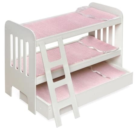 Badger Basket Doll Bunk Beds With Ladder Badger Basket Trundle Doll Bunk Beds With Ladder For 34 92 Lowest Price Frugal Living Nw