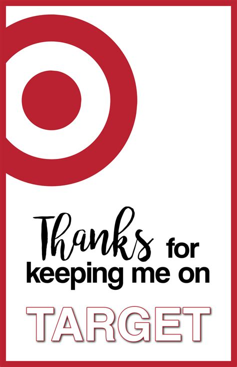Target Gift Card Printable - target thank you cards free printable paper trail design