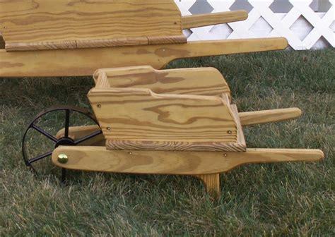small amish decorative wheelbarrow wooden wheelbarrow