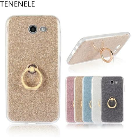 Softcase Ring Stand Holder Samsung J7 2017 tenenele silicone for samsung galaxy j7 prime 2016 colorful bling pink stand coque