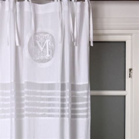 White Tie Top Curtains Tie Top Panels Molly White Fondaco Mixin Home