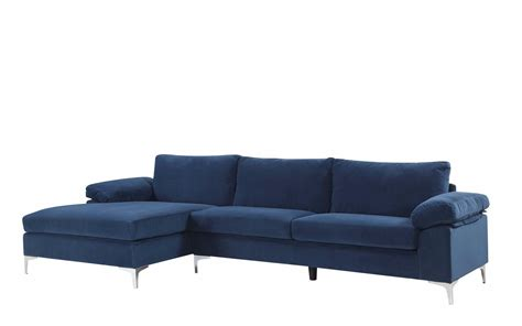 amanda modern velvet large sectional sofa sectional with ottoman angolo 1 modern sectional with