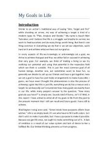 Cinema Paradiso Essay by Personal And Professional Goals Essay