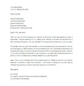thank you letter for 6 free word excel pdf