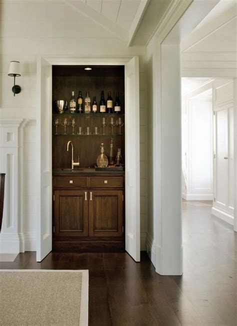 Living Room Closet Doors by Living Room Bar With Bi Fold Doors Transitional
