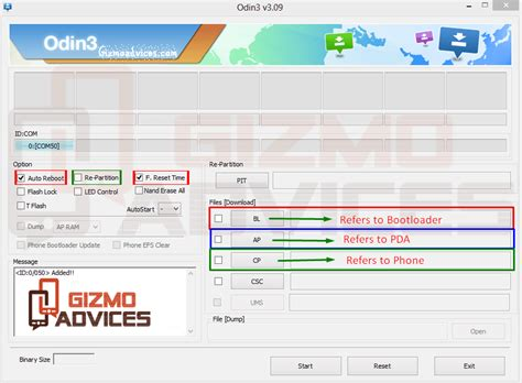 reset samsung using odin install cf auto root recovery and firmware files on