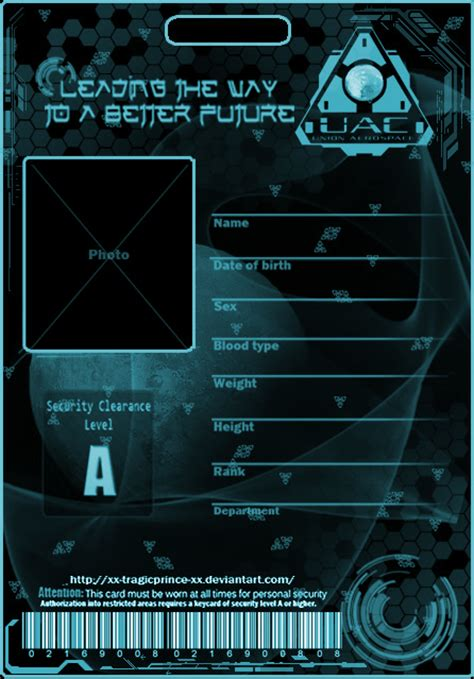 Uac Darker Badge Template By Kasukitty On Deviantart Of Shield Id Card Template