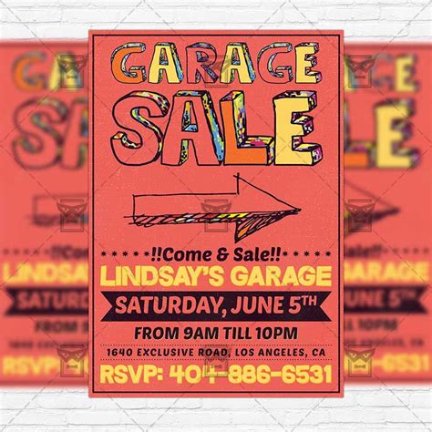 Garage Sale Premium Flyer Template Instagram Size Flyer Exclsiveflyer Free And Premium Garage Sale Advertisement Template